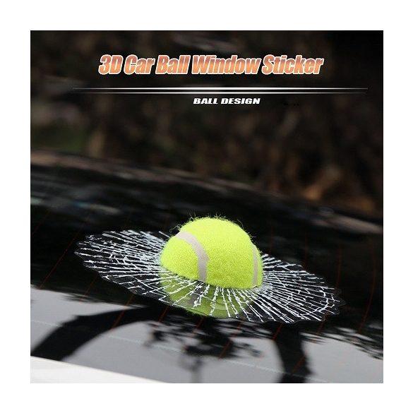 Üvegbe csapódott teniszlabda