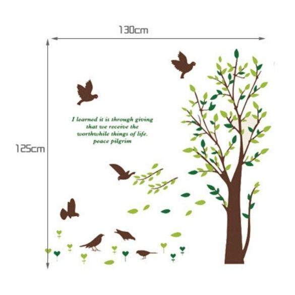 Fa madarakkal, szöveggel