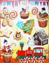 Sütik, csillámos karácsonyi ablakmatrica a Dekormatricák webáruházban