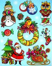 Karácsony, színes, csillámos ablakmatrica a Dekormatricák webáruház kínálatában