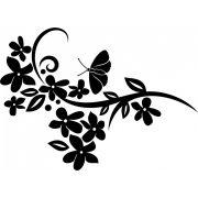 Virágos inda pillangóval