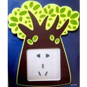 Fa, éjjel világító villanykapcsoló matrica