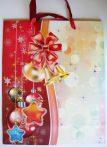 Piros, csillámos karácsonyi ajándéktáska, L méret a Dekormatricák webáruháztól