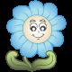 Virágos ág madarakkal, falmatrica
