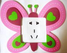 Pillangó, villanykapcsoló matrica