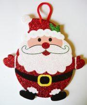 Pufók Mikulás, karácsonyi ajtódekor