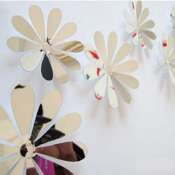 Tükrös 3D virágok a Dekormatricák webáruház kínálatában
