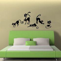 Cicák, cicás falmatrica a Dekormatricák falmatrica webáruház termékei közül