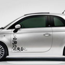 Rózsák sarokmintában, autómatrica a Dekormatricák webáruház autómatricái közül