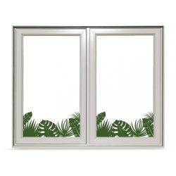 Trópusi növények, színes ablakmatrica a Dekormatricák falmatrica webáruháztól