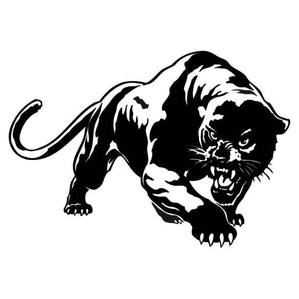 Fekete párduc falmatrica a Dekormatricák webáruház matricái közül