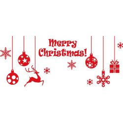Karácsonyi díszek, matrica kirakatra a Dekormatricák webáruháztól
