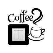 Coffee,villanykapcsoló matrica