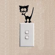 Crazy cat,villanykapcsoló matrica