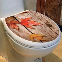 Ősz, csillámos toalett díszítő matrica