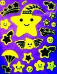 Hullócsillagok, éjjel világító dekormatrica