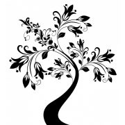 Nonfiguratív virágzó fa