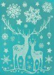 Szarvasok, csillámos karácsonyi ablakmatrica a Dekormatricák webáruházban
