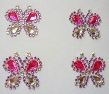 Pillangók, öntapadós dekorkövek