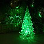 Karácsonyfa, led dekoráció, zöld