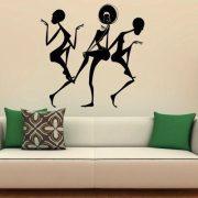 Táncoló afrikai nők, faltetoválás a Dekormatricák webáruház több ezer terméke közül
