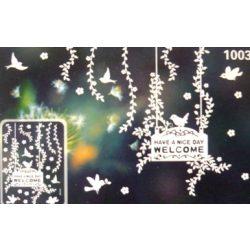 Legyen szép napod, éjjel világító, fehér, csillámos ablakmatrica