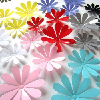 Rózsaszín 3D virágok a Dekormatricák webáruház kínálatában
