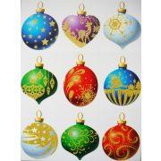 Karácsonyi díszek, csillámos karácsonyi ablakmatrica a Dekormatricák webáruházban