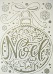Noel, ezüst csillámos karácsonyi ablakmatrica a Dekormatricák webáruházban