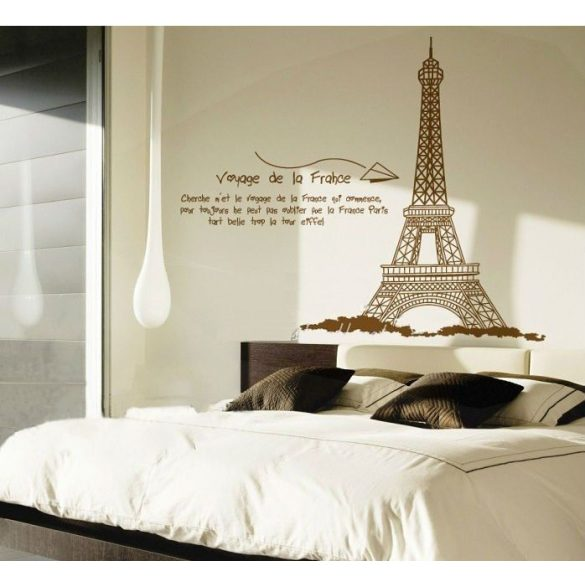 Eiffel torony falmatrica, barna