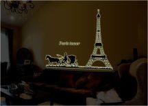 Paris tower, éjjel világító falmatrica