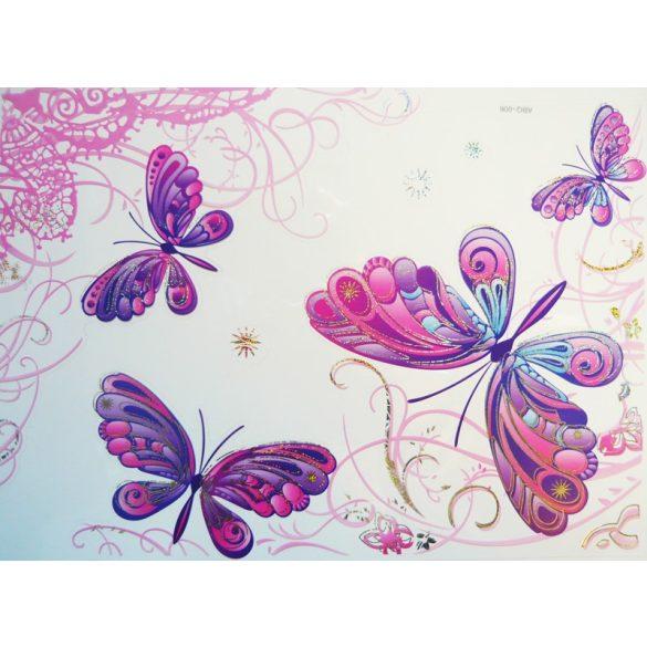 Csillámos pillangók, laptopmatrica