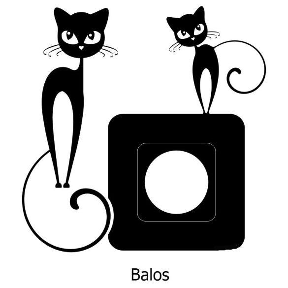Cicák,villanykapcsoló matrica