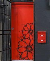 Virágok, ajtómatrica