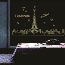 I love Paris, éjjel világító falmatrica