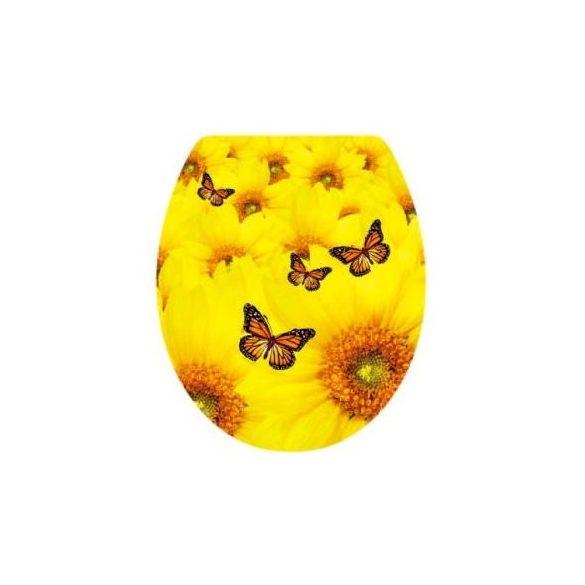 Pillangók, csillámos toalett díszítő matrica