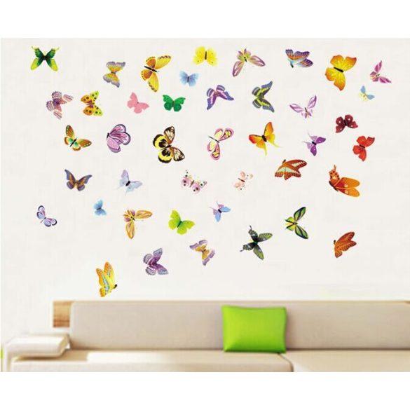 Színes pillangók, falmatrica