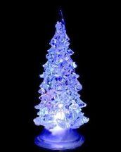 Karácsonyfa, led dekoráció, fehér