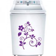Nonfiguratív virág, matrica mosógépre