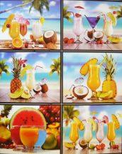 Gyümölcskoktélok, csempematrica