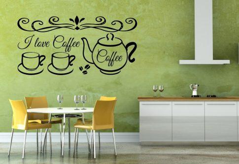 Nonfigurítív I love coffee