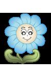 Virágok, éjjel világító polifoam falmatrica