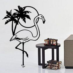 Flamingó falmatrica a Dekormatricák webáruház falmatricái közül