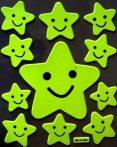Happy csillagok, éjjel világító dekormatrica