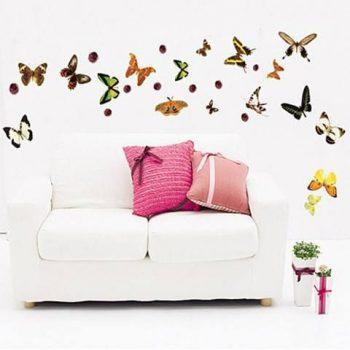 Pillangók és katicák, falmatrica