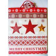 Csillagok karácsonyi ajándéktáska, L méret a Dekormatricák webáruháztól