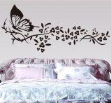 Pillangó virágokkal, falmatrica