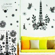 Eiffel torony pillangókkal, 3D falmatrica