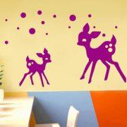 Őzikék, falmatrica a Dekormatricák Webáruház cicás falmatricái közül
