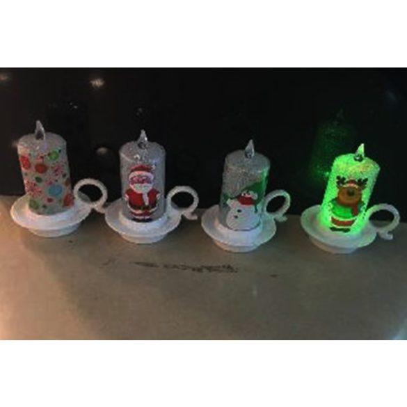 Karácsonyi led dekorgyertyák a Dekormatricák webáruház dekorációi közül